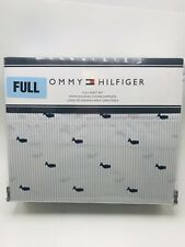 Tommy  Hilfiger Full Sheet Set Whales Blue White Ithaca Stripe 4 Piece