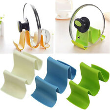 Kitchen Wave Shape Plastic Pot Pan Cover Lid Shell Rack Ladle Spoon Stand Holder