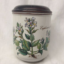 "VILLEROY & BOCH BOTANICA SMALL HOUSEHOLD BOX JAR 4 1/4"" EUPHRASIA AFFICINALIS"