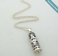 David Pendant Bar Mitzvah Gift Silver Mezuzah Necklace Jewish Necklace, Star Of