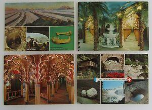4x LUZERN Lucerne Gletscher-Garten Schweiz AK Lot color, ungelaufen ab ca ~1970