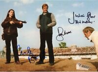 JAMES BOND Roger Moore Julian Glover Carole Bouquet Autograph AFTAL & UACC