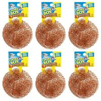 6 Chore Boy Copper Scrubber Scouring Pad 100% Pure Copper New Steel Wool