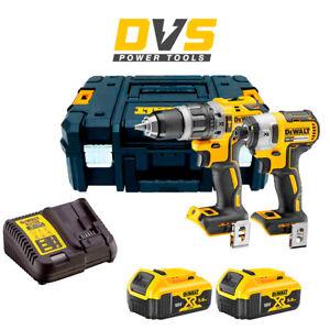 Dewalt DCK266P2T Combi Drill and Impact Driver XR 18v Brushless Kit 5Ah Batterie