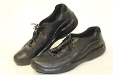 Prada Mens UK 9 US 10 Black Leather Americas Cup Sneakers Oxfords Shoes wx