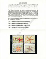 Papua New Guinea MNH 1987 STAMP PRESENTATION PACK STARFISH SG 563-566