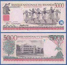 Rwanda 5000 Francs P 28a 1998 UNC Low Shipping! Combine FREE! ( P 28 a )