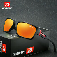 DUBERY Mens Sport Polarized Sunglasses Outdoor Riding Fishing Square Eyewear New