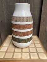 Rare Vtg Bitossi Raymor Aldo Londi MCM Mid Century modern Ceramic Striped Vase