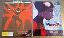 SPIDER-MAN INTO THE SPIDER-VERSE 4K UHD + Blu-Ray STEELBOOK + Bonus Art Booklet