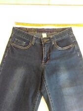 Womans Target 3/4 Blue Denim Jeans, Size 10, Straight Leg, Inseam 55cms