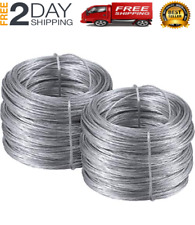 Photo Frame Picture Hangers Hanging Wire, Stainless Steel Mirror Rope 200 Feet,