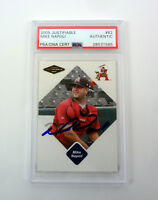 Mike Napoli 2005 Justifiable Signed Autograph Rookie RC Card Slabbed PSA/DNA COA