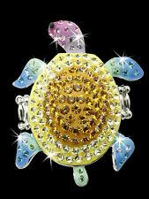 Pave Set Multi Color Swarovski Crystal Ele Cz TURTLE Animal Cocktail BLING Ring
