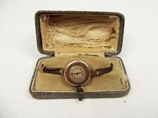 Cased Ladies 1920's 9ct Gold Watch By Etna Watch Co