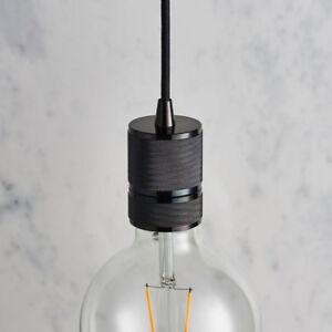 Hanging Ceiling Pendant Light & Rose Kit–Black Chrome–Industrial Adjustable Lamp