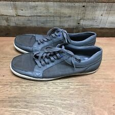 Aldo mens 12 grey canvas lace up shoes sneakers ////////