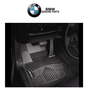 For BMW E90 E91 328i xDrive 328xi 335xi Front Black All Weather Floor Liners