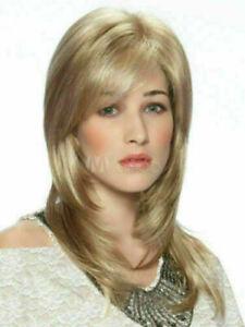 High Quality Wig New Fashion Beautiful Women's Medium Dark Blonde Straight Wigs