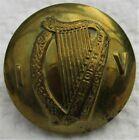 "British Army:""IRISH VOLUNTEERS BRASS BUTTON"" (Large, 25mm, WW1-1922 Era, Harp)"