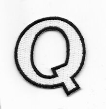 "2"" Letter Q Embroidered Iron On Alphabet Patch wx0019"