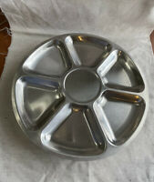 Vintage Lundtofte Denmark Stainless Steele Tabletop Lazy Susan Serving Tray