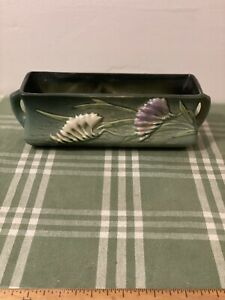 "Roseville Pottery Freesia Green #1392-8"" Window Box Planter"