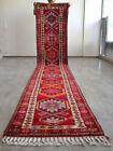 3x14 Runner Hand Made Kurdish Rug Colorful Hallway Rug Actual 2.7 x 14.0 ft