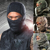 FT- Tight Camouflage Balaclava Hunting Outdoor Ski Protection Full Face Neck Mas