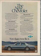 1977 CHEVROLET CAPRICE CLASSIC advertisement, Chevy Caprice sedan ad