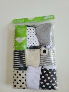 FADED GLORY GIRLS BRIEFS PANTIES UNDERWEAR 9 PACK SIZE 12 VARIOUS DESIGNS NEW