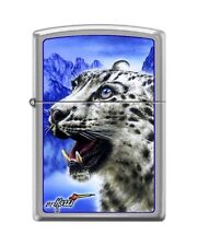 Zippo 7036 Mazzi Snow Leopard Brushed Chrome Finish Lighter