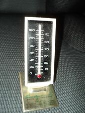 Vintage Plastic Desk Thermometer - Security State Bank, Minocqua Wisconsin
