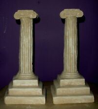 "11"" Column Small pedestal Greek Roman Art Reproduction Sandstone Finish 9027"