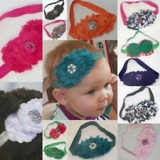 Tiny Toes Stretchy Headbands Chiffon match Jeweled Toes Baby Blooms MADE IN USA