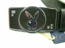 Esmaltada señoras Plateado/negro Playboy Cinturón Talle Pequeño RRP £ 24.99 BNWT (pl4255sil)