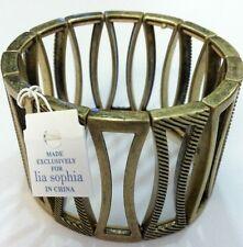 Lia Brushed Chakra Matte Gold Stretch Bracelet Retail $48 Retired