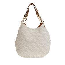 Michael Kors Fulton Large Logo Shoulder Bag MK30S7GFTL3B-150 - Vanilla