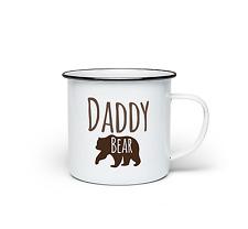 Daddy Bear Mug Fathers Day Dad Present Novelty Gift Enamel Coffee Cup 10oz