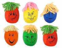 6 Moody Squeeze Faces - Pinata Toy Loot/Party Bag Fillers Smiley Kids