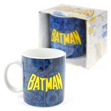 NEU DC Comics Batman-Logo & Streifen Becher Kaffeetasse klassisch Offiziell