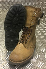 Genuine French Foreign Legion Brown Leather / Suede Army Boots Size 40 NEW FB108