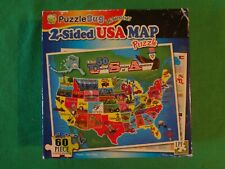 2011 PUZZLEBUG LEARNING 2-SIDED USA MAP 60 PIECE PUZZLE