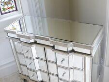 Venetian mirror glass chest 6 drawer wide chest break front