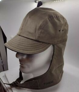 Filson Vintage Tin Cloth Wool Lined Waterfowl  Hunting Cap Hat Size Small