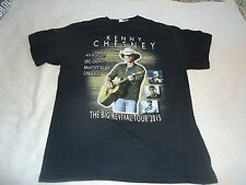 KENNY CHESNEY-THE BIG REVIVAL TOUR 2015 CONCERT T-SHIRT LG BLACK S/S