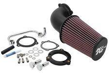 K&N Cargador de aire AdmisióN Kit Negro 09-15 Harley Davidson XL883N hierro