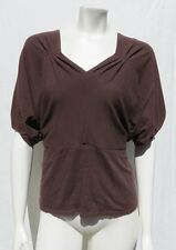 JET SUSTAINABLE CLOTHING Portland USA Brown Stretch Knit Shirt Top size S