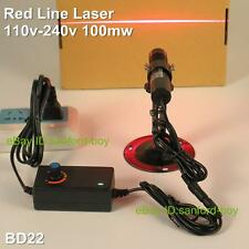 Powerful Line Laser Pointer Pen Industrial Laser Torch Beam Lazer + Adaptor BD22