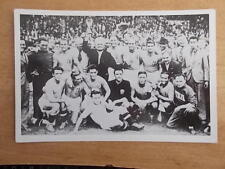 ITALY 1938 - WORLD CUP WINNING TEAM PHOTOGRAPH - MARS CONFECTIONERY - POSTCARD